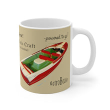 1957 Chris Craft Capri and Continental White Ceramic Mug by Retro Boater