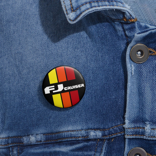 Toyota FJ Cruiser Custom Pin Buttons by SpeedTiques