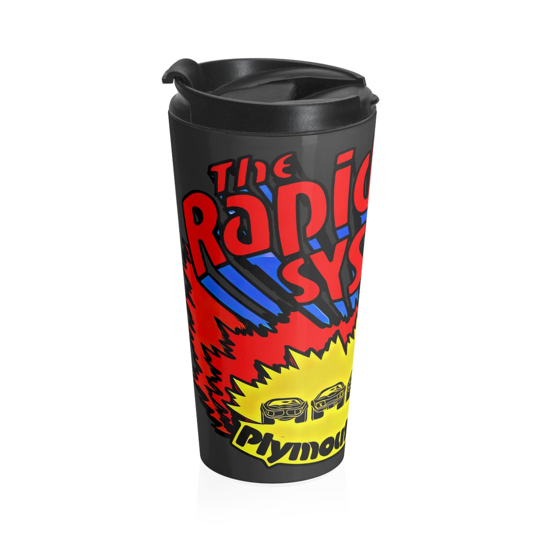 1970s Plymouth Dodge The Rapid Transit System Stainless Steel Travel Mug