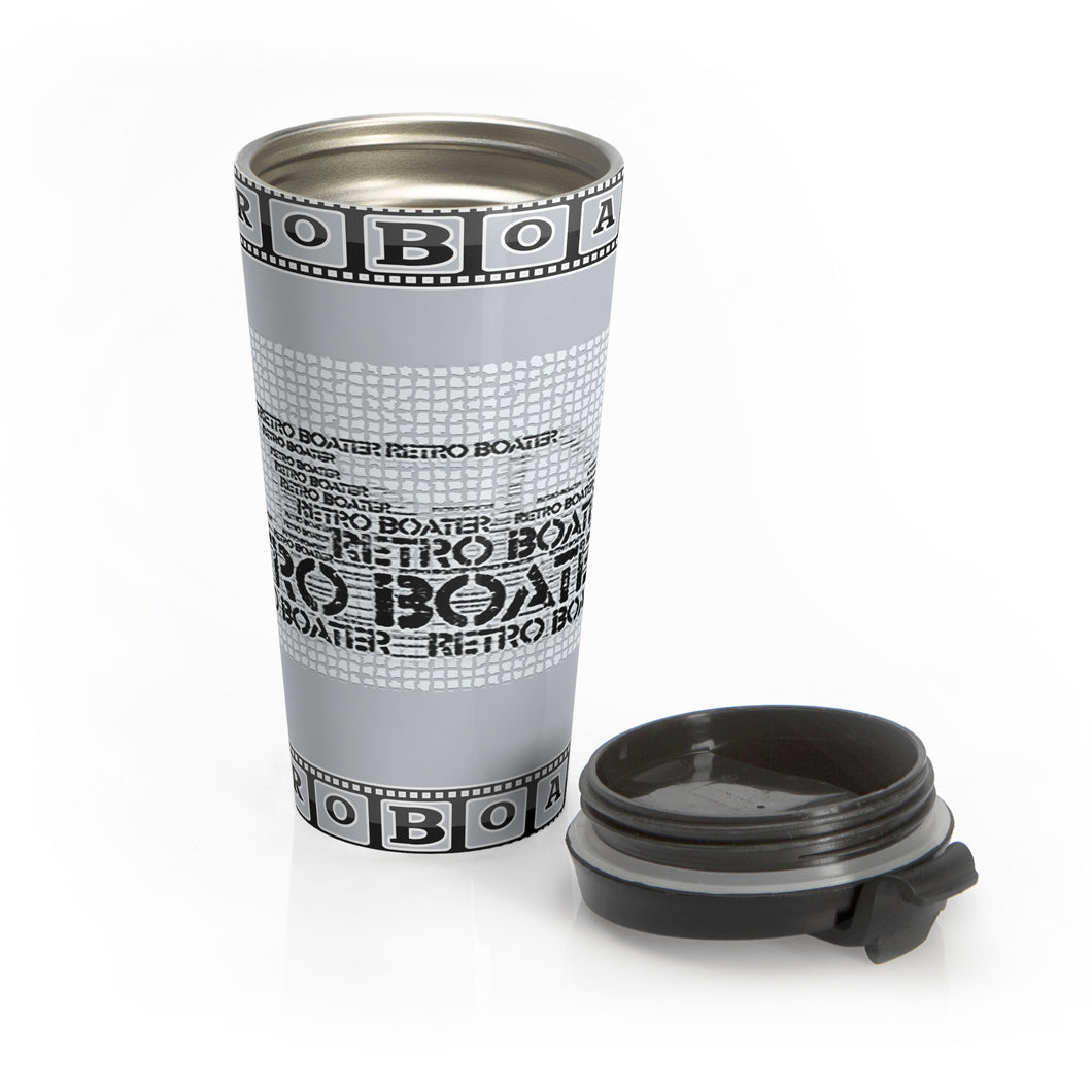 Cruiser Art by Retro Boater Stainless Steel Travel Mug