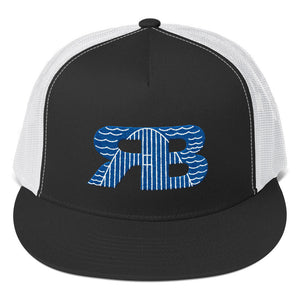 Retro Boater Logo Trucker Cap
