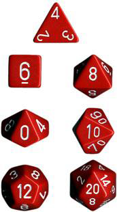 Chessex Polyhedral Dice Set (Red/White)