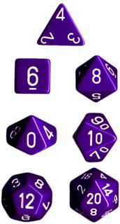 Chessex Polyhedral Dice Set (Purple/White)