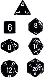Chessex Polyhedral Dice Set (Black/White)