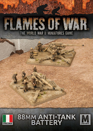 Flames of War: 88mm Anti-tank Battery - ITALIAN