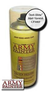 Army Painter: Base Primer - Anti-Shine, Matt Varnish