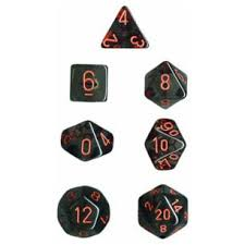 Chessex Polyhedral Dice Set Translucent (Smoke/Red)