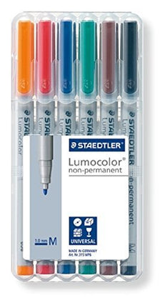 Water Soluble Markers for Chessex Vinyl Playmats (6-pack)
