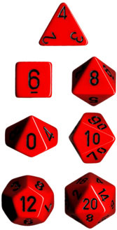 Chessex Polyhedral Dice Set (Red/Black)