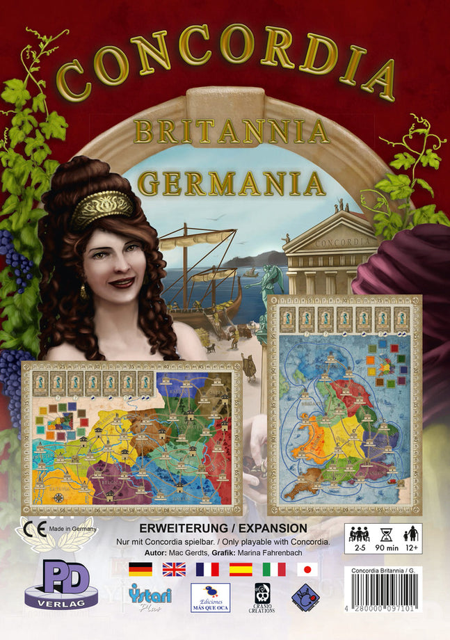 Concordia: Britannia and Germania Expansion Board