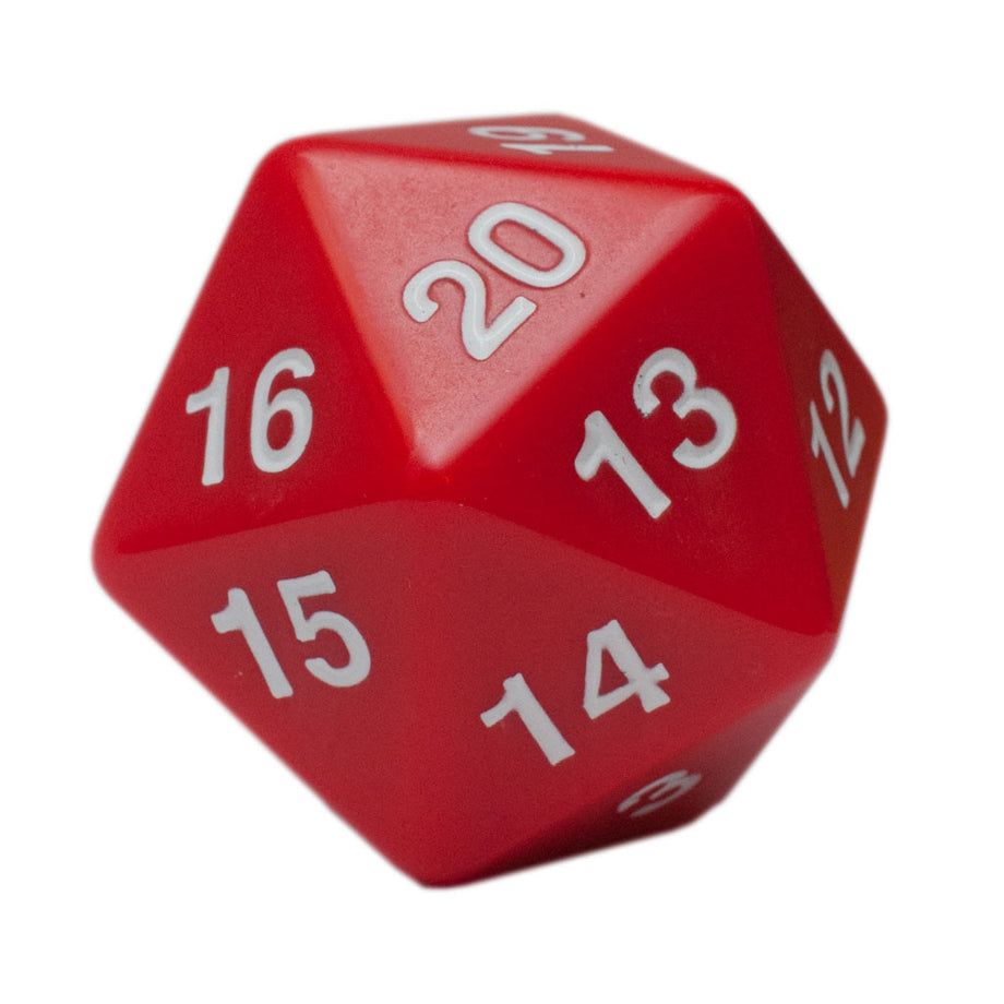 D20 Jumbo 55mm Opaque Red