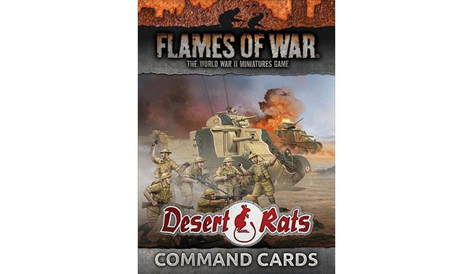 Flames of War: Desert Rats Command Cards