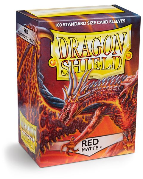Dragon Shield Sleeves (Red Matte)
