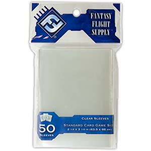 FFG Standard Card Game Sleeves (50 pack, Clear)