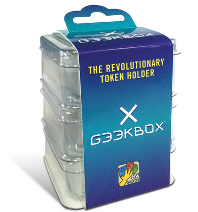 Geekbox Clear Plastic Token Storage Box/Lid (3 pack)