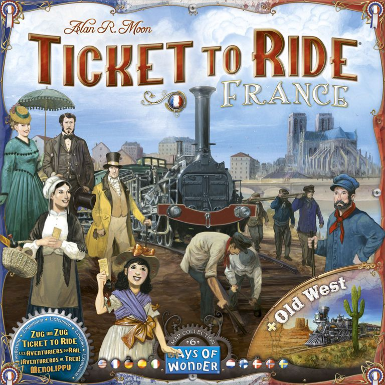 Ticket to Ride: France & Old West Map Expansion
