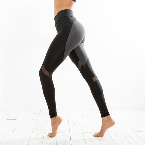 Women's High Waist Leggings With Mesh Panels - Body by Tara