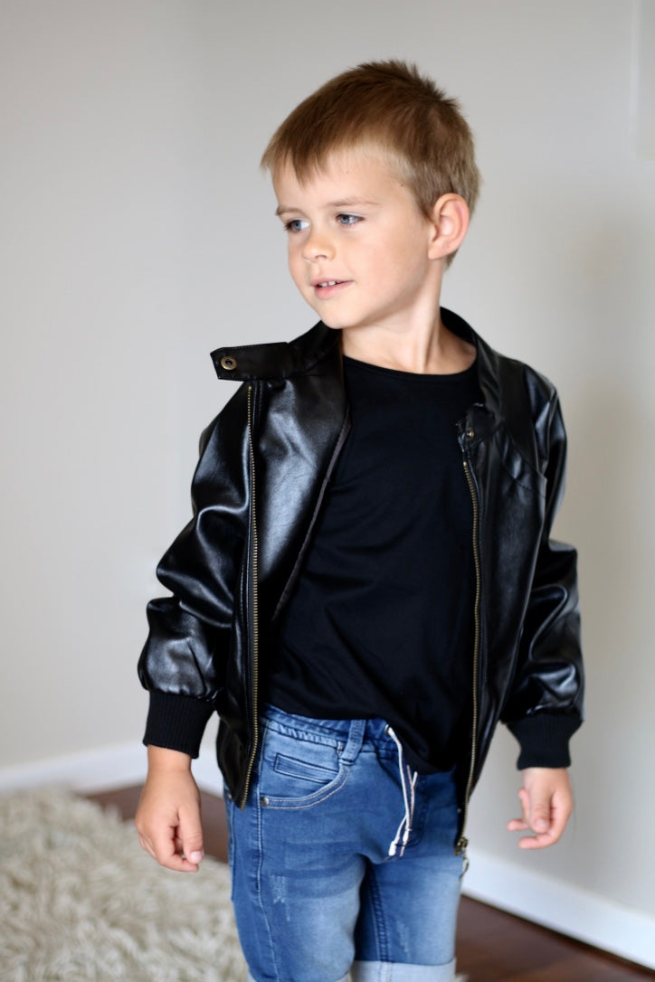 Boys Leather Jacket Punks And Petals