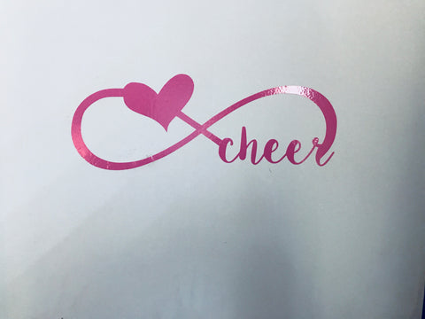 Cheer wall decal