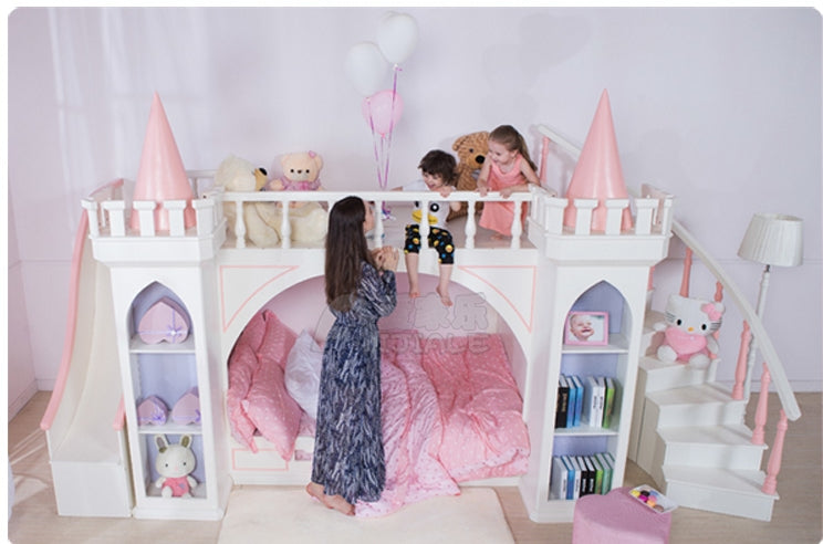 Luxury Little Girl Princess Castle Bunk Bed Vmc Creative Designs