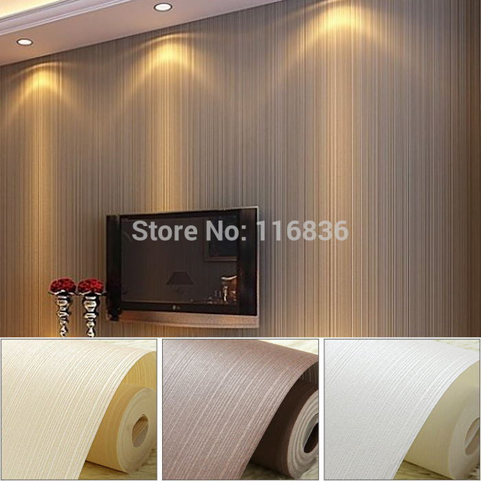 Top Quality  Fabric Mural wallpaper modern striped flock wall paper - VMC Creative Designs