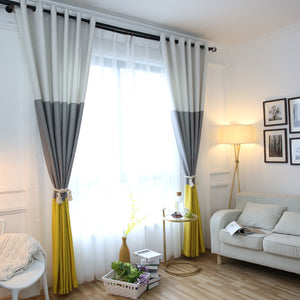 Striped Color Blackout Curtains - VMC Creative Designs