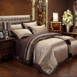 Jacquard Silk Duvet Bedding Set - VMC Creative Designs