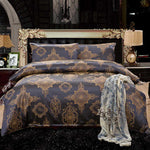 Luxury Silk Bedding Set Full/Queen/King Size Bed cover - VMC Creative Designs