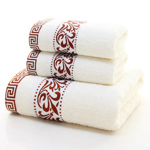 Scroll Greek Key Embroidered Towel Set - VMC Creative Designs