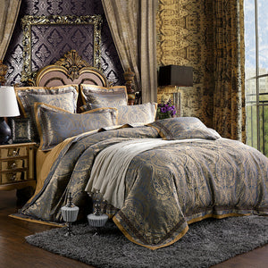Damask European Palace Style Duvet King-6pc - VMC Creative Designs