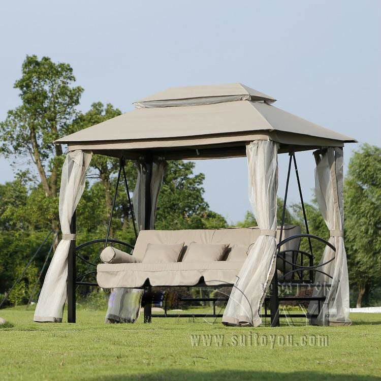 Outdoor 3 Person Patio Daybed Canopy Gazebo - VMC Creative Designs