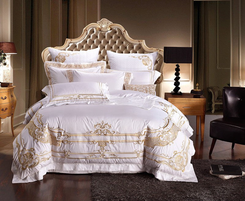 Luxury Royal Embroidery Duvet cover Bed Set - VMC Creative Designs