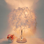 White Feather Table Lamp - VMC Creative Designs