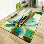 Geometric Abstract Rug - VMC Creative Designs