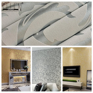 Metallic Scroll Print Wallpaper - VMC Creative Designs