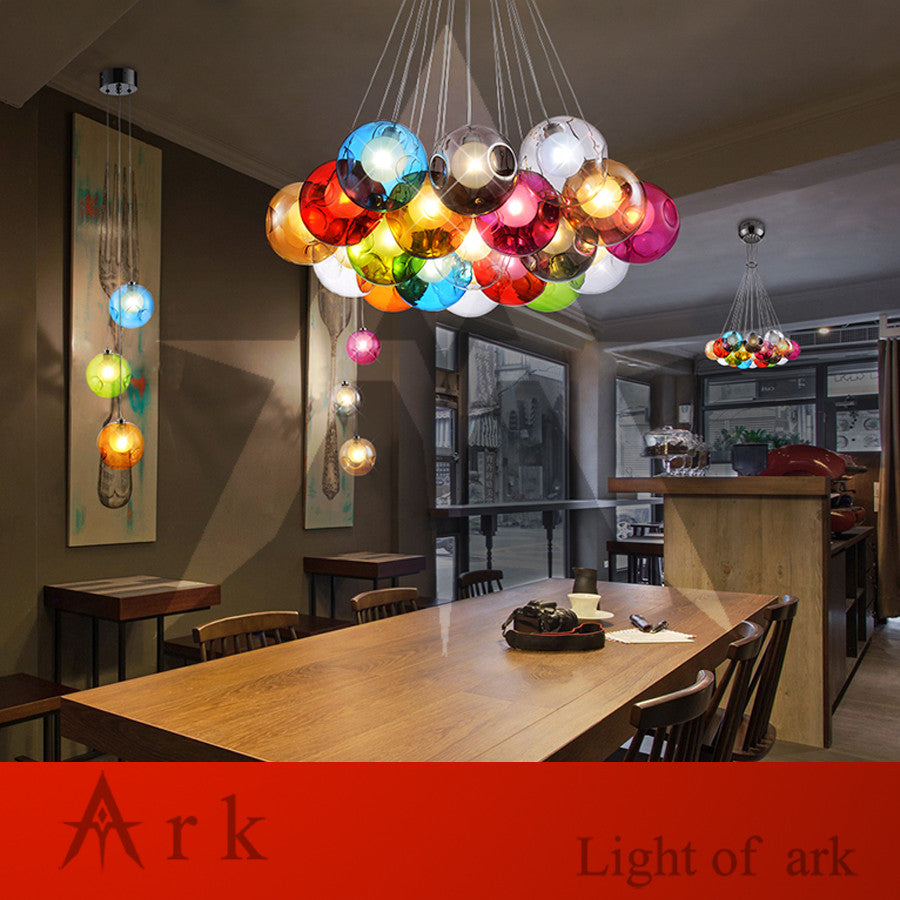 ARK LIGHT LOFT american old furniture nostalgic vintage Bubble Ball LED Pendant - VMC Creative Designs