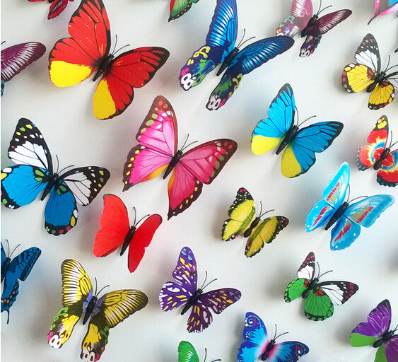 Butterfly Stickers Home Accessories  Double-sided Adhesive-12pcs - VMC Creative Designs