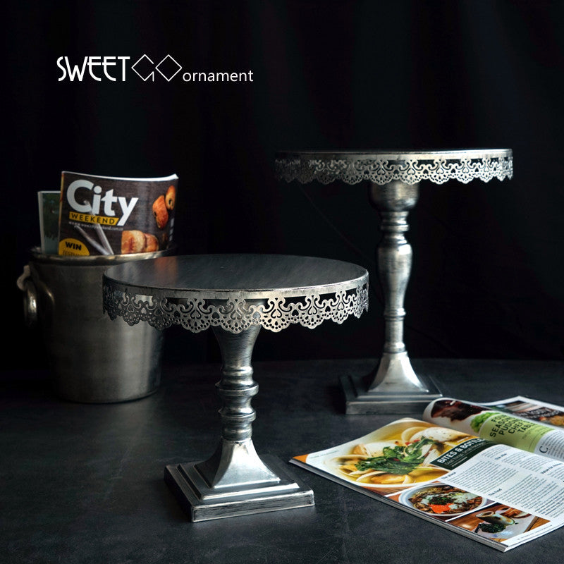 Silver cake stand for 10/12 inch - VMC Creative Designs
