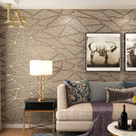 Thick Flocked Modern Geometry 3D Wallpaper - VMC Creative Designs