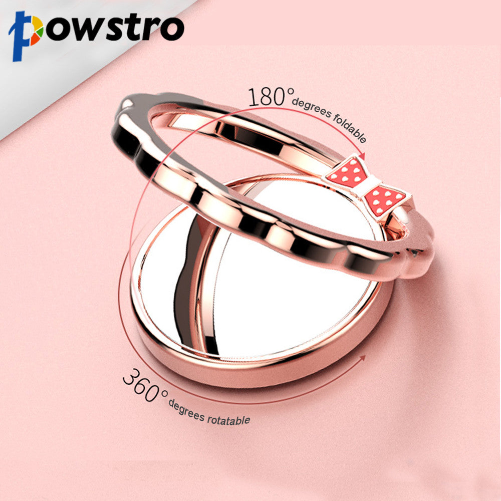 Powstro Luxury 360 Degree Metal Finger Ring Holder Smartphone Mobile Phone Finger Stand Holder For iPhone 7 6 Samsung Tablet - VMC Creative Designs