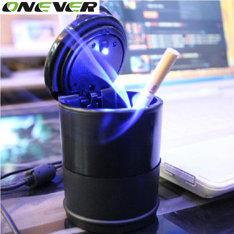 Universal Car Ashtray LED Cigarette Cylinder Cup Holder - VMC Creative Designs