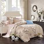 Flowers bird Print Duvet Cover Set - VMC Creative Designs