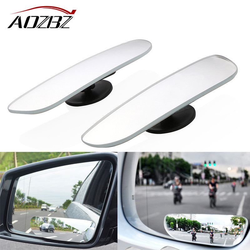 Newest 2 pcs 360 Degree Rear View Mirror High Quality Frameless Ultrathin Wide Angle Round Convex Blind Spot Mirror For Parking - VMC Creative Designs