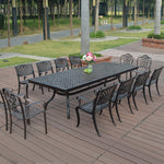 13-Piece Cast Aluminum Patio Furniture - VMC Creative Designs
