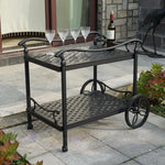 Cast-aluminum Dining Patio Furniture Cart - VMC Creative Designs