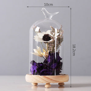 Bird Glass Cover Cloche - VMC Creative Designs
