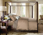 Luxury bedding set King / Queen size 4 pieces  light brown - VMC Creative Designs