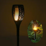 Solar powered LED Flame Lamp Waterproof Flame Flicker Torch Light - VMC Creative Designs