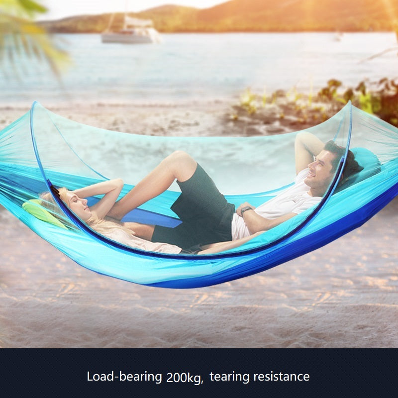 Parachute Cloth Anti Mosquito Double Folding hammock - VMC Creative Designs
