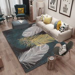 Leaf Print Abstract Rug - VMC Creative Designs